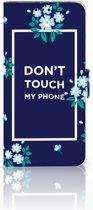 Huawei Nova 4 Boekhoesje Flowers Blue DTMP