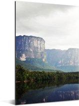 De jungle en het berglandschap van het Nationaal park Canaima in Venezuela Aluminium 60x90 cm - Foto print op Aluminium (metaal wanddecoratie)