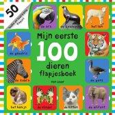 Boek cover Mijn eerste 100 - Mijn eerste 100 dieren van Nicola Friggens (Hardcover)