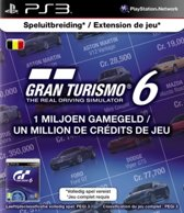 Sony PlayStation Gran Turismo 6 Abonnement België 1 Miljoen Game Credits PS3 + PSN