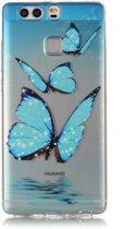 Huawei Ascend P9 TPU met Lichtblauwe Vlinders