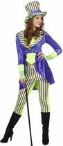 Mad Hatter Kostuum | Jolly Joker Streep | Vrouw | Maat 34 | Carnaval kostuum | Verkleedkleding