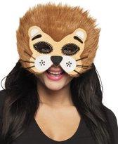 Pluche halfmasker Leeuw