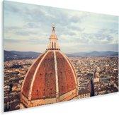 Luchtfoto van Florence met de koepel van de Dom van Florence Plexiglas 180x120 cm - Foto print op Glas (Plexiglas wanddecoratie) XXL / Groot formaat!