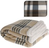 Plaid geruit camel