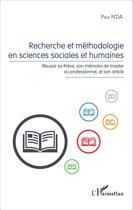 Recherche et méthodologie en sciences sociales et humaines