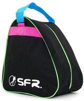 SFR Schaatstas - zwart/roze/groen/blauw