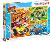 PUZZEL 3X48 MICKEY AND THE ROADSTER RACERS