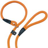 Nobby fun retriever lijn lijn en halsband in 1 oranje 1,3 x 170 cm - 1 st
