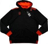 Adidas Ajax Hooded Top - Maat XS - Kleur Noir/Oraecl