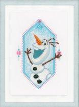 Borduurpakket  I'm Olaf Frozen met telpatroon van Vervaco