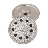 Chunk / Click button Swarovski steentjes