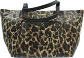 Victoria's Secret Leather EW Tote w/ Pouch Leopard Saffiano