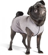 GoldPaw  - Sunshield Tee Hondenjas - Grijze Pullover - maat 2 - kleine maten
