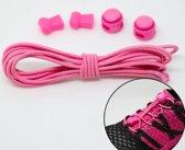 Elastische veters, hardloopveters, lock laces - ideaal voor sport, kinderen, volwassenen of ouderen! - 2 veters - roze