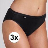 3x Sloggi basic tai dames slip zwart 42 - onderbroek