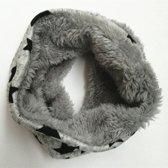 Zachte gevoerde sjaal | grijs met sterren |  6-24 maanden