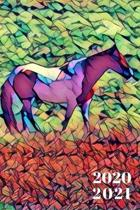 Pretty Painted Pony Purple Horse lover's 25 Month Weekly Planer Dated Calendar 2 years plus December