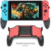 Nintendo Switch Grip | Aanpasbare Grip Stand | Ergonomische Grip Nintendo Switch |Opbergvakje voor Games | Cadeau voor man & vrouw | Nintendo Switch Accesoire