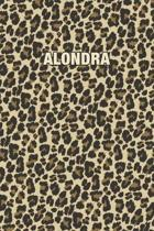 Alondra: Personalized Notebook - Leopard Print (Animal Pattern). Blank College Ruled (Lined) Journal for Notes, Journaling, Dia