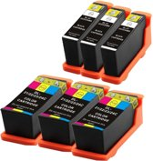 Compatible voor Dell Series 21 (22,23 en 24) InktBV® Inktcartridge-set 6pak