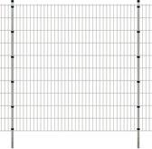 vidaXL Dubbelstaafmat 2008 x 2030 mm 8 m zilver 4 stuks