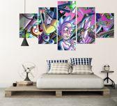 Rick And Morty | 5 Silk Panel Walldecor Artwork