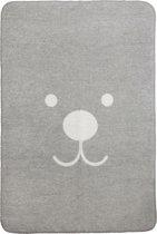 Meyco Animal ledikantdeken - 120 x 150 cm - ecru/grijs
