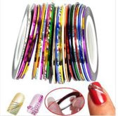 Nail Art Striping tape - 30 verschillende rolletjes stripping tape