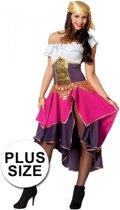 Grote maten roze zigeunerin kostuum voor dames 44 (2xl)