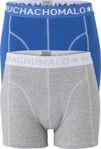 Muchachomalo boxershorts 2-pack - blauw / grijs -  Maat M