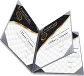 Rapportmap / Diplomamap / Certificaat Mappen - 4x A5 - Houtpatroon Grijs