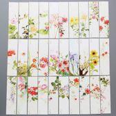 30 Stuks Boekenlegger met Zomerse Bloemen | Lees Accessoires
