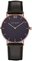 Paul Hewitt Sailor Line Rose Gold Blue Lagoon - Horloge - 39mm -  Zwart