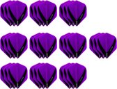 10 Sets (30 stuks) Stevige XS100 Vista - flights - Multipack - Paars