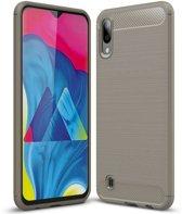 Teleplus Samsung Galaxy A10 Custom Carbon Silicone Case Gray hoesje