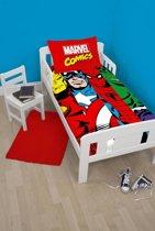 Marvel Comics Clash - Dekbedovertrek - Eenpersoons - 120 x 150 cm - Multi