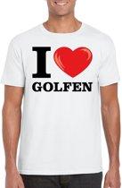 I love golfen t-shirt wit heren M