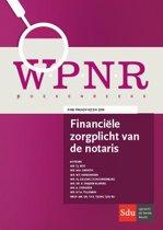 WPNR Boekenreeks - Financiële zorgplicht van de notaris
