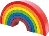 Houten regenboog speelgoed - Large - 7 kleuren - Speelgoed vanaf 1 jaar