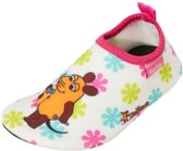 Playshoes UV waterschoenen wit muis