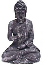 Garden Boeddha 60cm antiek zilver   GerichteKeuze