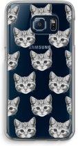 Samsung Galaxy S6 Edge Transparant Hoesje (Soft) - Kitten