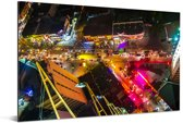 Kleuren in Manila vanaf boven Aluminium 90x60 cm - Foto print op Aluminium (metaal wanddecoratie)