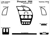 Richter Prewoodec Interieurset Peugeot 306 3/1993-4/1997 9-delig - Aluminium