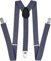 Fako Fashion® - Bretels - Effen - 100cm - Donkergrijs