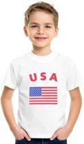 Kinder t-shirt vlag USA Xs (110-116)