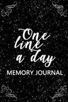 One Line a Day Memory Journal