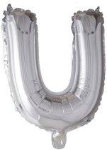 letterballon - 100 cm - zilver - U