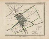 Historische kaart, plattegrond van gemeente Delft in Zuid Holland uit 1867 door Kuyper van Kaartcadeau.com